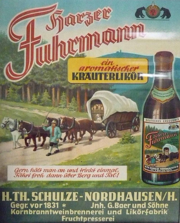 Harzer Fuhrmann - ein aromatischer Kräuterlikör - http://www.museum-digital.de