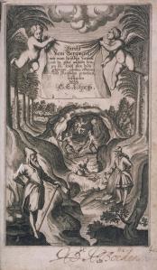"""""""Loehneysen - Bericht vom Bergwerck (Titelkupfer)"""". Lizenziert unter Gemeinfrei über Wikimedia Commons"""